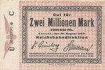 2 Millionen Mark, 1923 Deutsches Reich,Weimarer Republik, Reichsbahndir... 16,99 EUR  zzgl. 1,80 EUR Versand