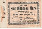 5 Millionen Mark, 1923 Deutsches Reich,Weimarer Republik, Reichbahndire... 14,99 EUR  zzgl. 1,80 EUR Versand
