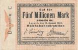5 Millionen Mark, 1923 Deutsches Reich,Weimarer Republik, Reichbahndire... 12,99 EUR  zzgl. 1,80 EUR Versand