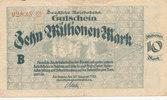 10 Millionen Mark, 1923 Deutsches Reich,Weimarer Republik, Reichbahndir... 2,99 EUR  zzgl. 1,80 EUR Versand