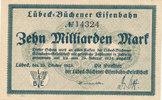 10 Milliarden Mark 1923 Deutsches Reich,Weimarer Republik, Lübeck-Büche... 41,99 EUR  zzgl. 4,00 EUR Versand