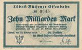 10 Milliarden Mark 1923 Deutsches Reich,Weimarer Republik, Lübeck-Büche... 41,99 EUR  Excl. 7,00 EUR Verzending