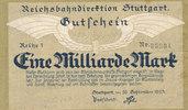 1 Milliarde Mark 1923 Deutsches Reich,Weimarer Republik, Reichbahndirek... 2,99 EUR  zzgl. 1,80 EUR Versand