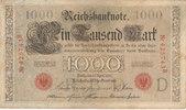 1000 Mark 1910 Deutsches Reich, Kaiserreich, Ro.45a KN 6stellig Udr.Bst... 7,99 EUR  zzgl. 1,80 EUR Versand