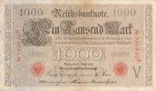 1000 Mark 1910 Deutsches Reich, Kaiserreich, Ro.45a KN 6stellig Udr.Bst... 9,99 EUR  zzgl. 1,80 EUR Versand