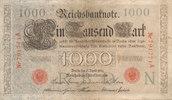 1000 Mark 1910 Deutsches Reich, Kaiserreich, Ro.45a KN 6stellig Udr.Bst... 4,99 EUR  zzgl. 1,80 EUR Versand