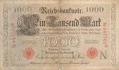 1000 Mark 1910 Deutsches Reich, Kaiserreich, Ro.45a KN 6stellig Udr.Bst... 1,99 EUR  zzgl. 1,80 EUR Versand