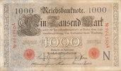 1000 Mark 1910 Deutsches Reich, Kaiserreich, Ro.45a KN 6stellig Udr.Bst... 19,99 EUR  zzgl. 1,80 EUR Versand