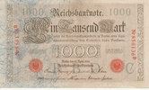 1000 Mark 1910 Deutsches Reich, Kaiserreich, Ro.45a KN 6stellig Udr.Bst... 14,99 EUR  zzgl. 1,80 EUR Versand