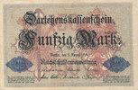 50 Mark 1914 Deutsches Reich, Kaiserreich, Ro.50a KN 6stellig, gebrauch... 5,99 EUR  zzgl. 1,80 EUR Versand