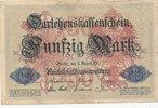 50 Mark 1914 Deutsches Reich, Kaiserreich, Ro.50a KN 6stellig, stark ge... 0,99 EUR  zzgl. 1,80 EUR Versand