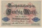 50 Mark 1914 Deutsches Reich, Kaiserreich, Ro.50b KN 7stellig, leicht g... 7,99 EUR  zzgl. 1,80 EUR Versand