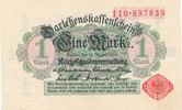 1 Mark 1914 Deutsches Reich, Kaiserreich, Ro.51a ohne Unterdruck, Siege... 9,99 EUR  zzgl. 1,80 EUR Versand