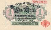 1 Mark 1914 Deutsches Reich, Kaiserreich, Ro.51a ohne Unterdruck, Siege... 7,99 EUR  zzgl. 1,80 EUR Versand