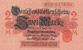 2 Mark 1914 Deutsches Reich, Kaiserreich, Ro.52c mit Unterdruck, Siegel... 0,99 EUR  zzgl. 1,80 EUR Versand