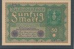 50 Mark 1919 Deutsches Reich,Weimarer Republik, Ro.62a, Reihe 1, fast K... 7,99 EUR  zzgl. 1,80 EUR Versand