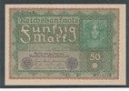 50 Mark 1919 Deutsches Reich,Weimarer Republik, Ro.62c, Reihe 3, fast K... 12,99 EUR  zzgl. 1,80 EUR Versand