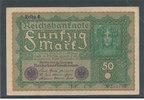 50 Mark 1919 Deutsches Reich,Weimarer Republik, Ro.62d, Reihe 4, gebrau... 4,99 EUR  zzgl. 1,80 EUR Versand