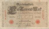 1000 Mark 1898 Deutsches Reich,Kaiserreich,  stark gebraucht IV,  89,00 EUR  Excl. 7,00 EUR Verzending