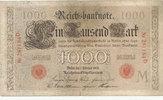 1000 Mark 1908 Deutsches Reich,Kaiserreich,  gebraucht III-,  34,99 EUR  Excl. 7,00 EUR Verzending