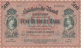 500 Mark 1911 Deutsches Reich,Sachsen, Dresden, Sächsische Bank, Serie ... 29,99 EUR  Excl. 4,00 EUR Verzending