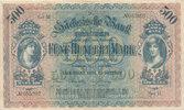 Deutsches Reich,Sachsen, 500 Mark Dresden, Sächsische Bank, Serie II,