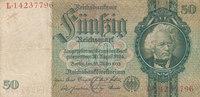 50 Reichsmark 1933 Deutsches Reich,Drittes Reich, Ro.175b,Friedensdruck... 2,99 EUR  zzgl. 1,80 EUR Versand