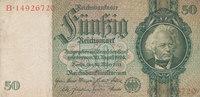 50 Reichsmark 1933 Deutsches Reich,Drittes Reich, Ro.175b,Friedensdruck... 3,99 EUR  zzgl. 1,80 EUR Versand