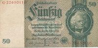 50 Reichsmark 1933 Deutsches Reich,Drittes Reich, Ro.175c Zwischenform ... 2,99 EUR  zzgl. 1,80 EUR Versand