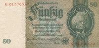 50 Reichsmark 1933(1945) Deutsches Reich,Drittes Reich, Ro.175c Kriegsd... 17,99 EUR  zzgl. 1,80 EUR Versand