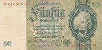 50 Reichsmark 1933(1945) Deutsches Reich,Drittes Reich, Ro.175c Kriegsd... 9,99 EUR  zzgl. 1,80 EUR Versand