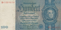 100 Reichsmark 1935 Deutsches Reich,Drittes Reich, Ro.176a, Friedensdru... 5,99 EUR  zzgl. 1,80 EUR Versand
