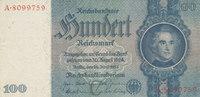 100 Reichsmark 1935 Deutsches Reich,Drittes Reich, Ro.176a, Friedensdru... 11,99 EUR  zzgl. 1,80 EUR Versand