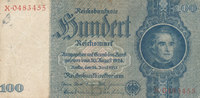 100 Reichsmark 1935 Deutsches Reich,Drittes Reich, Ro.176b, Zwischenfor... 5,99 EUR  zzgl. 1,80 EUR Versand