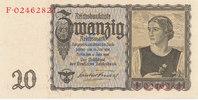 20 Reichsmark 1939(1945) Deutsches Reich,Drittes Reich, Ro.178a Udr.Bst... 34,99 EUR  Excl. 7,00 EUR Verzending