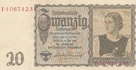 20 Reichsmark 1939(1945) Deutsches Reich,Drittes Reich, Ro.178a Udr.Bst... 19,99 EUR  zzgl. 1,80 EUR Versand