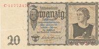 20 Reichsmark 1939(1945) Deutsches Reich,Drittes Reich, Ro.178a Udr.Bst... 14,99 EUR  zzgl. 1,80 EUR Versand