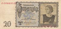 20 Reichsmark 1939(1945) Deutsches Reich,Drittes Reich, Ro.178a Udr.Bst... 9,99 EUR  zzgl. 1,80 EUR Versand