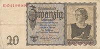 20 Reichsmark 1939(1945) Deutsches Reich,Drittes Reich, Ro.178a Udr.Bst... 6,99 EUR  zzgl. 1,80 EUR Versand
