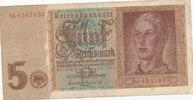 5 Reichsmark 1942 Deutsches Reich,Drittes Reich, Ro.179a, KN 7stellig, ... 4,99 EUR  zzgl. 1,80 EUR Versand