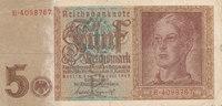 5 Reichsmark 1942 Deutsches Reich,Drittes Reich, Ro.179a, KN 7stellig, ... 3,99 EUR  zzgl. 1,80 EUR Versand