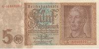 5 Reichsmark 1942 Deutsches Reich,Drittes Reich, Ro.179b, KN 8stellig, ... 5,99 EUR  zzgl. 1,80 EUR Versand