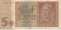 5 Reichsmark 1942 Deutsches Reich,Drittes Reich, Ro.179b, KN 8stellig, ... 2,99 EUR  zzgl. 1,80 EUR Versand
