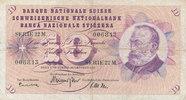10 Franken 26.10.1961 Schweiz P45g gebraucht III-,  7,99 EUR  zzgl. 1,80 EUR Versand