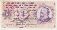 10 Franken 7.2.1974 Schweiz P45s gebraucht III,  9,99 EUR  zzgl. 1,80 EUR Versand