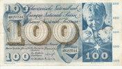 100 Franken 21.1.1965 Schweiz P49g gebraucht III-,Flecke,  34,99 EUR  zzgl. 4,00 EUR Versand