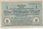 1 Milliarde Mark 1923 Deutschland,Sachsen, Flöha Amtshauptmannschaft, g... 8,99 EUR  zzgl. 1,80 EUR Versand