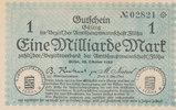 1 Milliarde Mark 1923 Deutschland,Sachsen, Flöha Amtshauptmannschaft, f... 13,99 EUR  zzgl. 1,80 EUR Versand