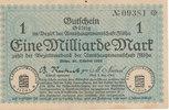 1 Milliarde Mark 1923 Deutschland,Sachsen, Flöha Amtshauptmannschaft, F... 19,99 EUR  zzgl. 1,80 EUR Versand