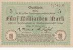 5 Milliarden Mark 1923 Deutschland,Sachsen, Flöha Amtshauptmannschaft, ... 13,99 EUR  zzgl. 1,80 EUR Versand